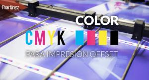 Colores CMYK para impresión offset